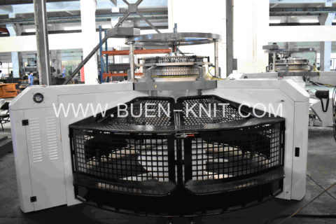 open top single jersey knitting machine